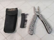 """Sheffield Multi Tool 6"""" w/ Pouch and Bit Set Stainless Steel Utility"""
