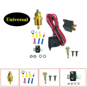 Car Electric Fan Wiring Install Kit Thermostat 50 Amp Relay 185° SBC BBC Part