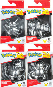 """Pokemon 25th Celebration 3"""" Silver Figures - Choose Your Character - Free P&P"""