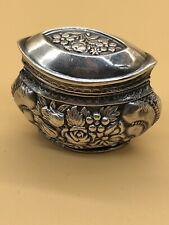 Wunderschöne Silber Dose um 1900. 800er Halbmond Krone ca 4x4cm