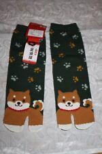 süßer Hund  Shibaken  Tabi jp.Kimono Socken Made in Japan  Gr. 22-25cm Hingucker