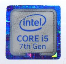 Intel Core i5 7th generación Azul 18 mm x18mm Metálica Pegatinas 7 Vinilo 10 8 Windows