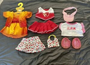 Mixed Lot Build-A-Bear BABW Clothes: Cheerleader Outfit, Shoes, Hat, Purse, More