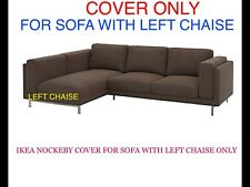 Ikea Nockeby Cover Slipcover For Loveseat (sofa) with Left Chaise Teno Brown
