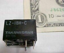 Lot 10 Takamisawa PCB Relays, LZ-18H-C-UL 18V, 120VAC Printed Circuit Board New