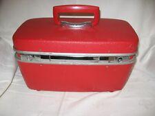 vintage Royal Traveller Red traincase makeup case luggage