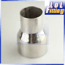 "2.5"" TO 3.5"" INCH WELDABLE TURBO/EXHAUST STAINLESS STEEL REDUCER ADAPTER PIPE"