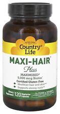 Country Life - Maxi-Hair Plus Maximized 5,000 mcg Biotin - 120 Vegetarian