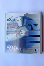 "5 x Imation 51111 15175 5.25"" 130mm 590MB Rewritable Optical Disc NEW/SEALED"