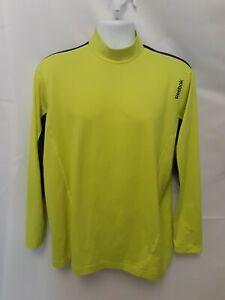 Reebok Thermal Neon Green / Yellow Lomg Sleeve Undershirt Workout Top Men's XL