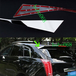 2PCS 304 Stainless Spoiler Rear Decorative Tail Trim For Cadillac SRX 2010-2016