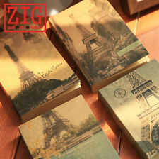 "Eiffel Tower Recycled Sketchbook 4"" x 6.7"" perfect bound 200 Sheets Kraft paper"