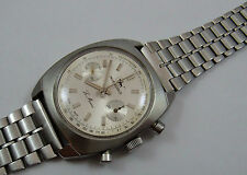 VINTAGE CHRONOGRAPH INVENCIBLE SWISS VALJOUX 7733 ALL STEEL no 1039 7912