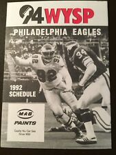 Philadelphia Eagles 1992 NFL pocket schedule - MAB Paints