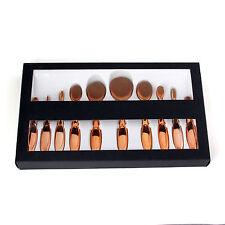 10Pcs Powder Eyeshadow Toothbrush Oval Cream Puff Makeup Brushes Set + Gift Box