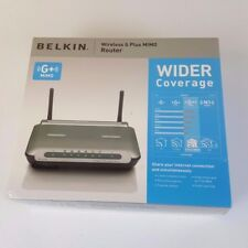Belkin Wireless G Plus MIMO Router 54Mbps Wider Coverage 4-Port NIBF5D9230-4
