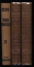 Sven Hedin: Transhimalaja (1909-1912). 3 Bände (komplett). Erste Ausgabe.