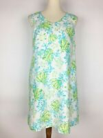 J.JILL Love Linen Seaweed Print Sleeveless Sheath Tank Dress - Size S Petite
