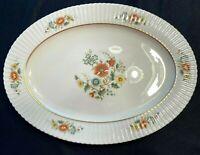 "Lenox ""TEMPLE BLOSSOM"" 15 3/4"" Medium Oval Serving Platter USA Made Excellent"