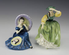 "2pc Royal Doulton Porcelain Figurines ""Pensive Moments""  and ""Buttercup"""