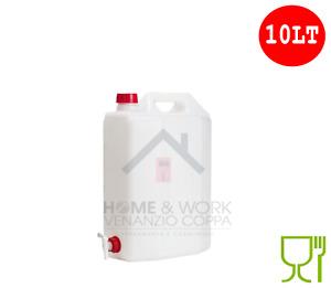 Tanica Taniche per alimenti con rubinetto plastica 10LT per Acqua Olio vino
