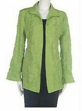 Xs - Citiknits Crinkle Jacket w/ Tank & Pull-on Pants Qvc $105 Navy Lime Nwt Xs