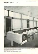 1967 Bench Seat Dining Room Training Centre Wexham Alex Gordon