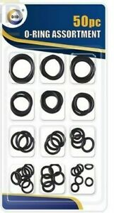 50Pc Assorted Rubber O Ring Set Seal Shower Hose Tap Washer Plumbing DIY Tool