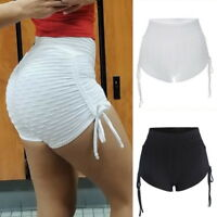 Women Sport Shorts Athletic Gym Workout Push Up Lift Fitness Yoga Leggings CA