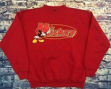 Vintage Mickey Mouse 1990s Disney Red Sweatshirt Mens Large fit Medium