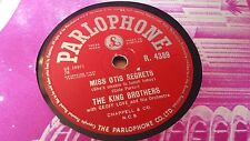 THE KING BROTHERS MISS OTIS REGRETS & PUT A LIGHT IN THE WINDOW PARLOPHONE R4389