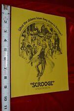 SCROOGE ALBERT FINNEY CHRISTMAS CAROL Dickens Musical screening Program Book
