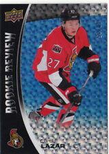 14/15 Upper Deck Overtime Rookie Review Blue #21 Curtis Lazar Senators /25