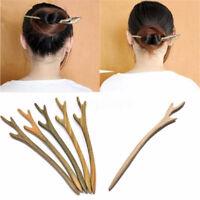 1 PC Wooden Hair Pin Stick Chopstick Wood Handmade Carved Hair Jewelry Random