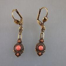 Paar Ohrringe mit Koralle im Viktorianischen Stil (41141)