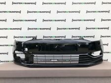 VW POLO HIGHLINE 6C 2014-2017 FRONT BUMPER WITH GRILLS GENUINE [V697]