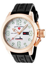 Swiss Legend Men's Submersible White Dial Rose Gold Tone Case 10543-RG-02