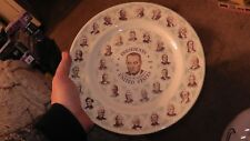 collector plate souvenir presidents of the united states lyndon b. johnson old
