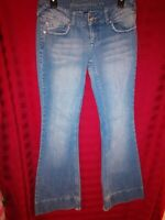 BLUE ASPHALT LOW RISE BOOT CUT/FLARE JEANS Womens Size 9