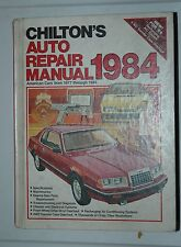 1984 Chilton's Auto Repair Manual:American Cars from 1977 to 1984