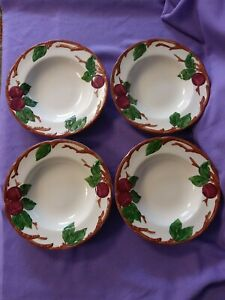 Vintage Franciscan Rim Soup Bowls Apple Made In The U.S.A. lot of 4