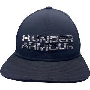 Under Armour Youth Black Baseball Hat Snapback Adjustable Embroidered Logo