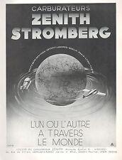 ▬► PUBLICITE ADVERTISING AD CARBURATEUR ZENITH STROMBERG 1935