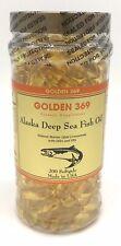 Omega 3 Golden 369 Alaska Deep Sea Fish Oil 200 Softgels EXP 09/2022
