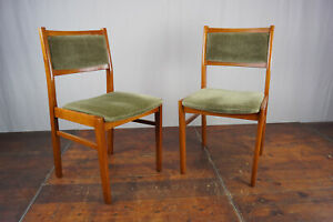 Dining Room Chairs Wood Vintage Danish Modern 60s Retro mid-Century 60er 1/2