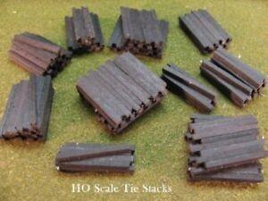 HO Scale Railroad Tie Stacks -Black - Scenery Accessories - DP Model Train Prod