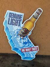 Miller California Map Genuine Light Beer Lithographed Embossed Bottle Sign