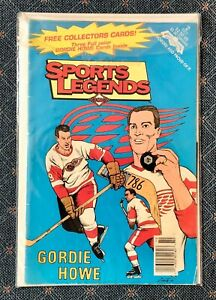 Sports Legends Comic Book #2: Gordon Howe with 3 Trading Cards