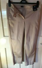 Brand New M&S Oyster Beige Mid Rise 7/8th Slim Trousers Uk 10 Short 15RN232