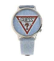 GUESS Wilshire + Grand Armband-Uhr Quarz-Uhr Originals im Jeans-Look Blau